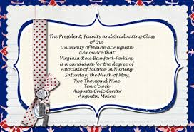 nursing school graduation invitations
