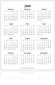 calendarios gratis 2009