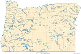 map of oregon lakes