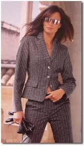 pinstripe suits women