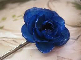 blue hair pin