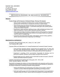 mechanical engineering resume