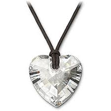 crystal heart jewellery