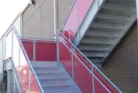 industrial metal stairs