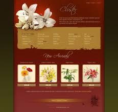 flower web template