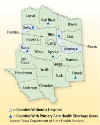 east texas counties