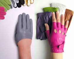 cut off leather gloves