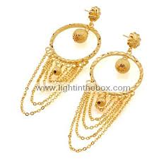 gold big earrings