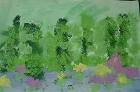 monet garden painting