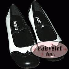 black and white mary jane shoes