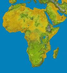 mapa hidrografico de africa