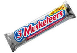 3 musketeer candy bar