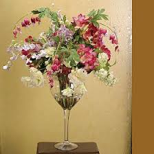 christmas silk flower arrangements