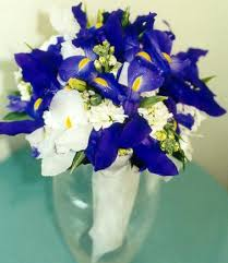iris wedding bouquets