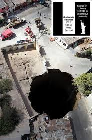 A giant sinkhole.