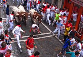 pamplona bull run 2009