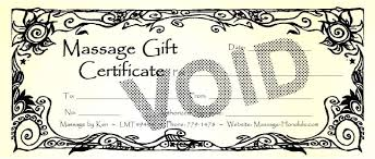 gift certificate for massage