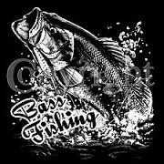 bass fishing t shirt