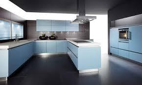 blue kitchen units