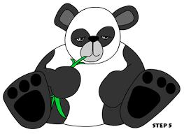 drawing of a panda