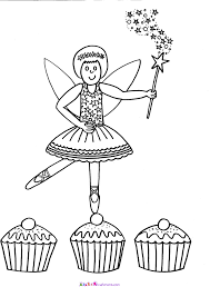 cupcake colouring picture