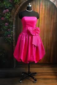 short hot pink dress