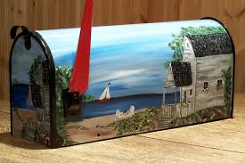 hand painted mail box