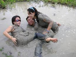 wet and muddy girls