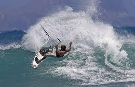 kiteboarding wave