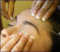 eyebrow threading pictures