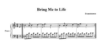 evanescence sheet music