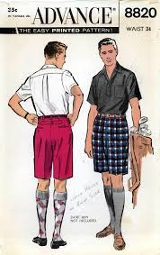 mens shorts pattern