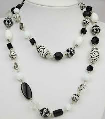 black and white beads