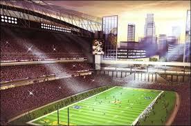 roof Vikings stadium.