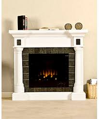 white electric fireplace