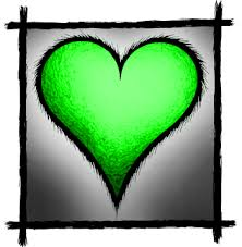 pictures of green hearts