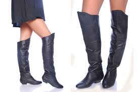 leather boots girls