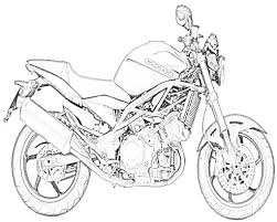 drawing of motorcycle