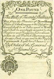 colonial paper currency