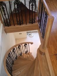 oak spiral stairs