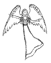 angel coloring sheet