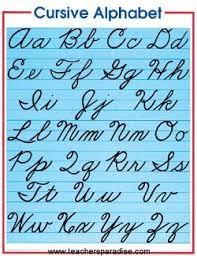 the alphabet in cursive