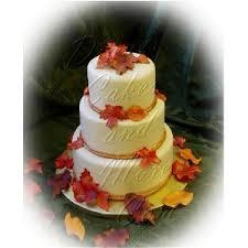 fall wedding cake designs
