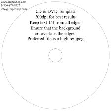 dvd printing templates