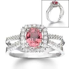 pink stone engagement rings
