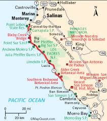 california coast maps