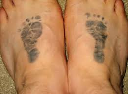 footprints tattoo