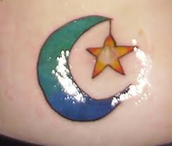 moon star tattoo