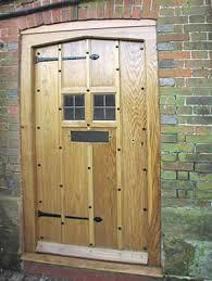 old oak door