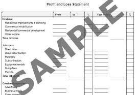 basic profit and loss statement